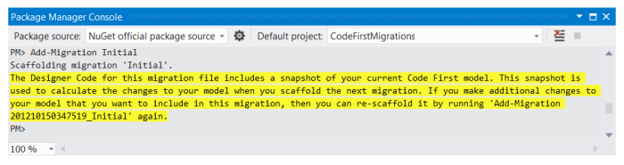 Create Initial Migration