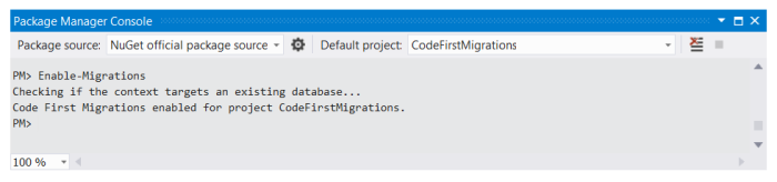 Enable Migrations